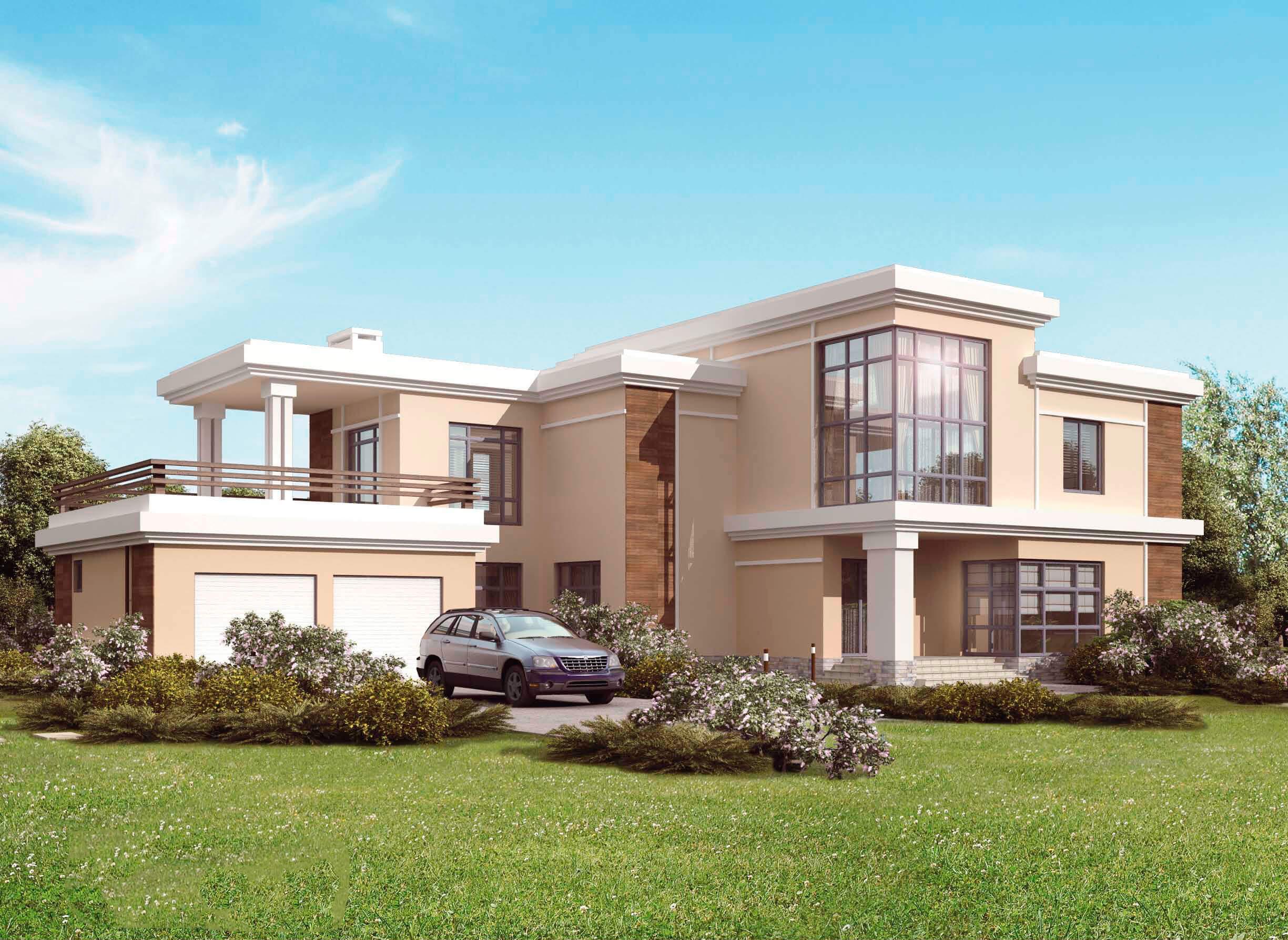 Das Projekt Ist Zweistöckige Haus Mit Fünf Schlafzimmern U201eMaxwellu201c