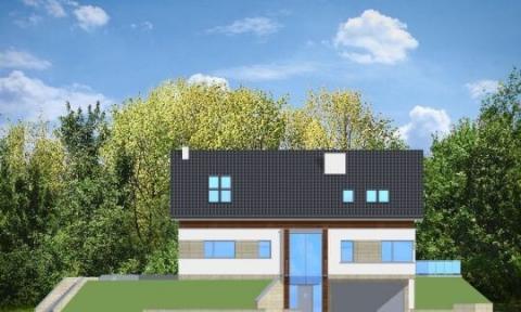 Фасад проекта Дом на горке
