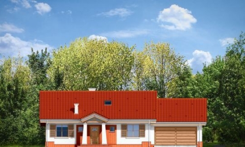 Фасад проекта Незабудка с гаражом-2