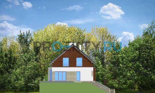 Фасады проекта Дом на горке