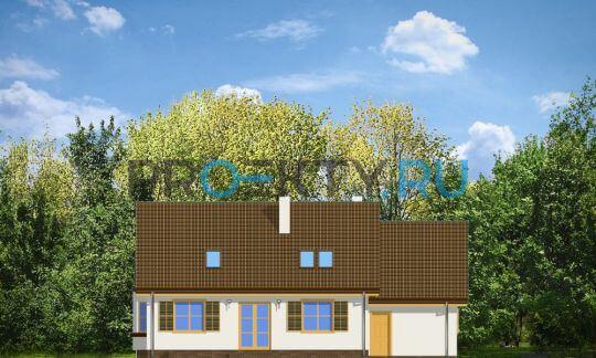 Фасады проекта Аккуратный с сенью