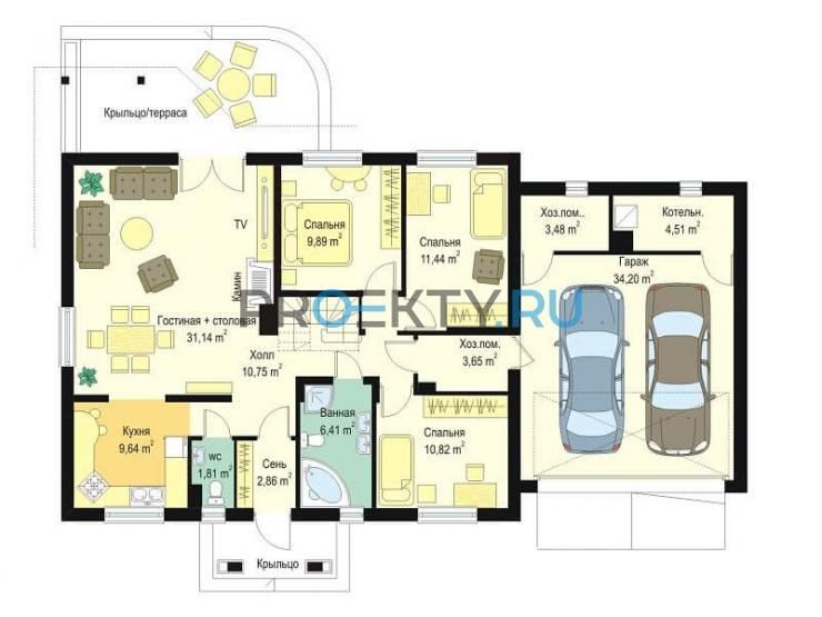План проекта Незабудка с гаражом-2 - 1