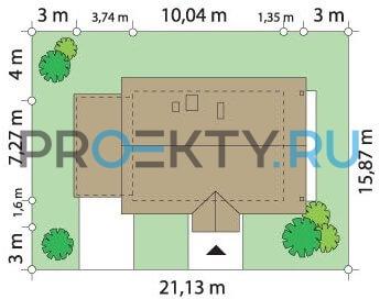 План проекта Радостный с гаражом