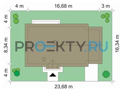 План проекта Солнечный с гаражом
