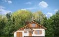 Фасад проекта Пчелка с гаражом (миниатюра)
