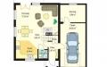 План проекта Д03 с гаражом (миниатюра)